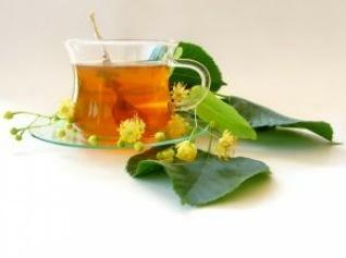 bylinný čaj v šálku