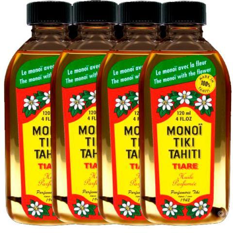 lahvičky s Monoi olejemz tahiti