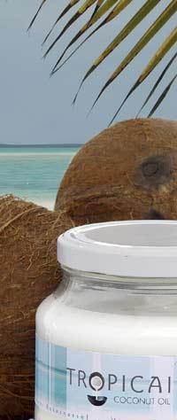 balení kokosového tuku a v pozadí je moře